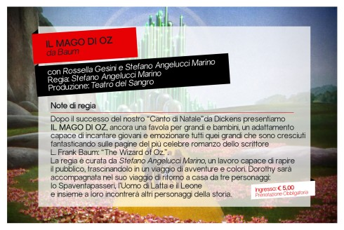 Mago di Oz - VASTO 17.04.16 (Retro)